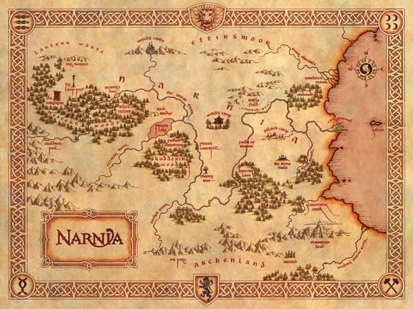 map-of-narnia-by-pauline-baynes