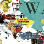 O mapa mundo que mostra as obras mais importantes de cada país